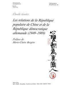 Les relations de la République populaire de Chine et de la Répub
