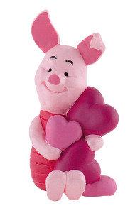 Figur Ferkel mit Herzen 6 cm