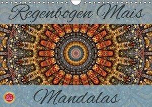Regenbogen Mais Mandalas (Wandkalender 2016 DIN A4 quer)