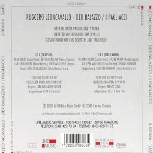 Der Bajazzo/I Pagliacci (GA)