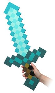 Minecraft - Diamond Foam Sword (Schaumstoff-Schwert im Pixel-Loo