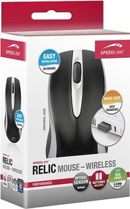 Speedlink SL-6310-BK RELIC Mouse - Wireless USB, schwarz