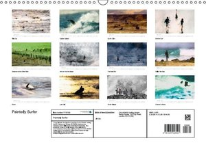 Painterly Surfer (Wall Calendar 2015 DIN A3 Landscape)
