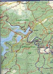 Rad- und Wanderkarte Hochharz - Bodetal 1 : 25 000