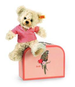 Steiff 111341 - Pia Teddybär im Koffer, 22cm