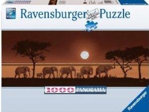 Ravensburger 15110 - Elefanten in der Savanne, 1000 Teile Puzzle
