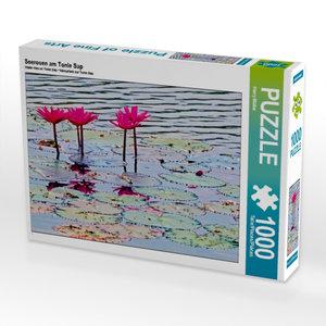 Seerosen am Tonle Sap 1000 Teile Puzzle quer