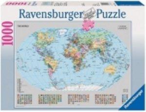 Politische Weltkarte. Puzzle 1000 Teile
