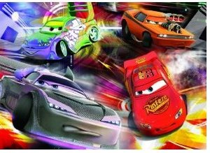 Jumbo Spiele 13645 - Disney Cars: Glow in the Dark, 100 Teile Pu