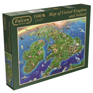 Falcon. Map Great Britain & Eire. Puzzle 1500 Teile