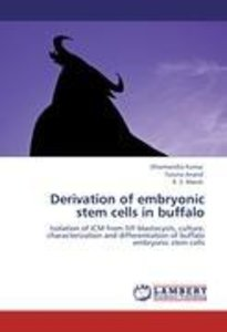 Derivation of embryonic stem cells in buffalo