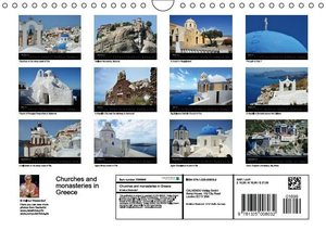 Churches and monasteries in Greece (Wall Calendar 2015 DIN A4 La