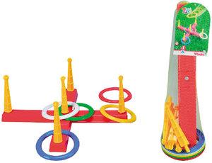 Simba Toys 107408799 - Kreuz-Ringwurfspiel mit 5 Ringen