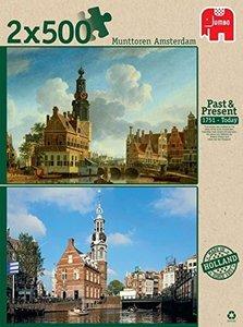 Munttoren Amsterdam - 2 x 500 Teile