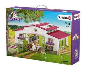 Schleich 42344 Reiterhof mit Reiterin und Pferden