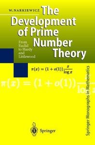 The Development of Prime Number Theory