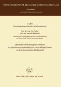Definition und Prüfung von Kriterien zur Bestimmung systematisch