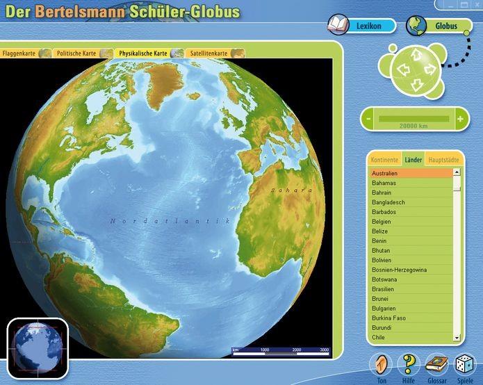 Der Bertelsmann Schüler-Globus - Weltatlas und Länderlexikon für - zum Schließen ins Bild klicken
