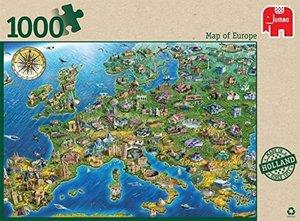 Karte von Europa - 1000 Teile