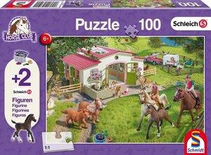 Schmidt Spiele Puzzle Ausritt ins Grüne 100 Teile mit 2 Schleich
