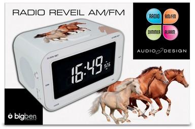 Radiowecker RR30 Horses mit Pferde-Motiv - zum Schließen ins Bild klicken