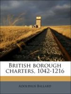 British borough charters, 1042-1216