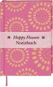 Happy Flowers Notizbuch klein - pink