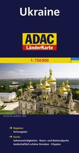 ADAC LänderKarte Ukraine 1 : 750 000