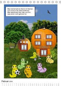 Die Abenteuer der kleinen Raupen (Tischkalender 2016 DIN A5 hoch