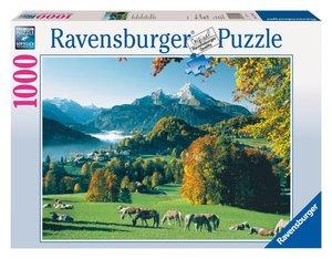 Berchtesgaden gegen Watzmann. Puzzle 1000 Teile
