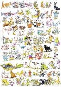 101 Katzen und 1 Maus. Puzzle 1000 Teile