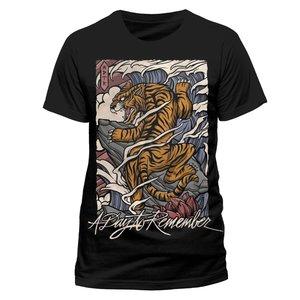 Tiger (T-Shirt,Schwarz,Größe M)