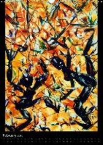 Fantastic Hot Wax Paintings women trees (Wall Calendar 2015 DIN