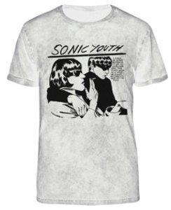 Goo (Pale Oil Wash T-Shirt,Weiss,Größe L)