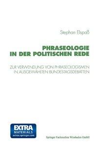 Phraseologie in der Politischen Rede