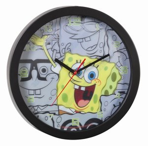 United Labels 0112186 - Spongebob: Wanduhr 3D