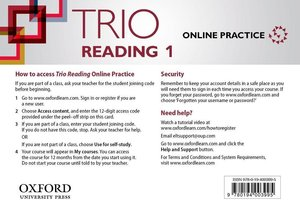 Trio Reading 1 Online Students Access Card Pack