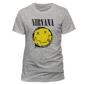 Smiley Splat (T-Shirt,Grau,Größe XL)