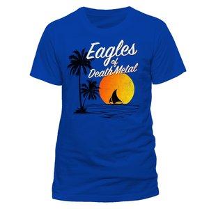Sun Logo (T-Shirt,Blau,Größe L)