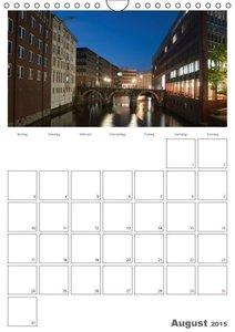 Enders, B: Hamburg bei Nacht (Wandkalender 2015 DIN A4 hoch)