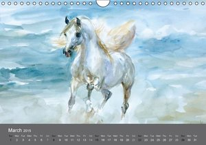 Horses in four seasons 2015 (Wall Calendar 2015 DIN A4 Landscape