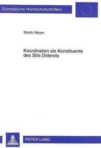 Koordination als Konstituente des Stils Diderots