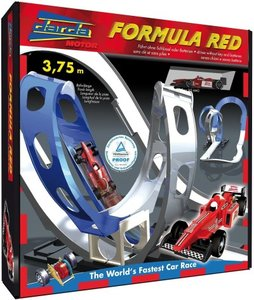 Simm 50106 - Rennbahn Formula, inklusive Auto, rot