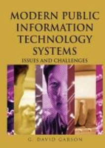 Modern Public Information Technology Systems: Issues and Challen