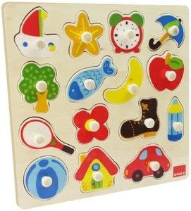 Goula D53023 - Holzpuzzle: Silhouetten, 15 Teile