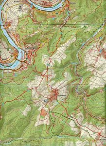 Ferienregion Zellerland - Wandergebiet Mosel 1 : 25 000
