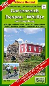 Gartenreich Dessau-Wörlitz und Umgebung 1 : 50 000. Radwander- u