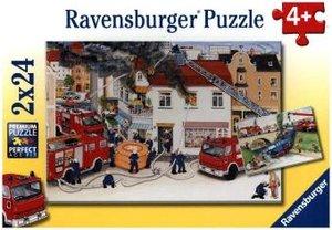 Bei der Feuerwehr. Puzzle 2 X 24 Teile