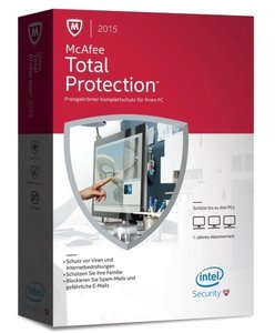 McAfee Total Protection 2015 3 PC (Code in a Box)