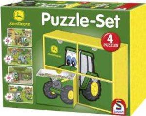 Schmidt Spiele 56505 - John Deere: Puzzle-Set, 2 x 26, 2 x 48 Te